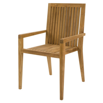 wooden outdoor dining chair by Pr Home