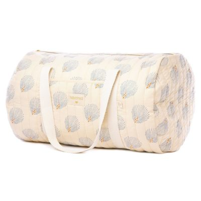 cream maternity bag in organic cotton by Nobodinoz