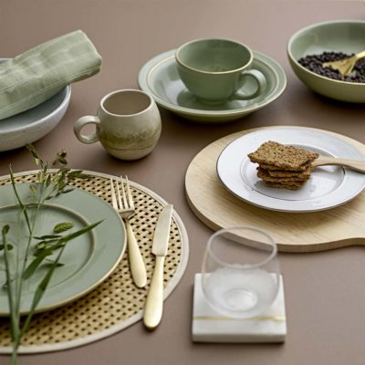 nature bamboo Bloomingville round placemat