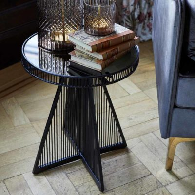 black metal Jakobsdals side table