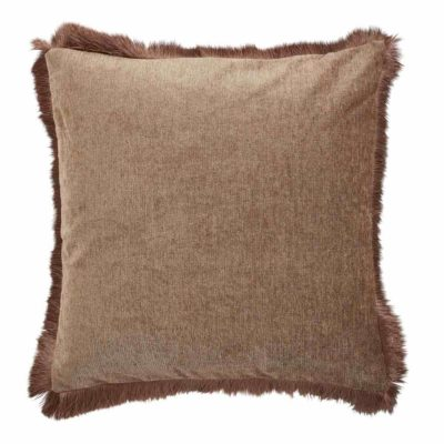 brown pure fringe Jakobsdals pillow case
