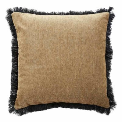 beige pure fringe Jakobsdals pillow case