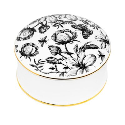 fine bone china trinket box, secret garden by Rory Dobner