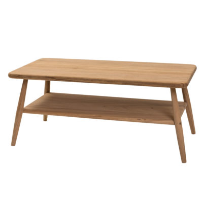 natural hardwood 100cm coffee table by Pr Home