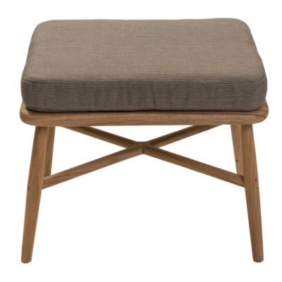 brown fabric footstool Pr Home