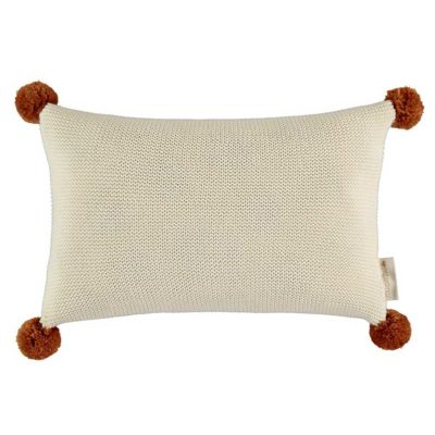 natural knitted cushion by Nobodinoz