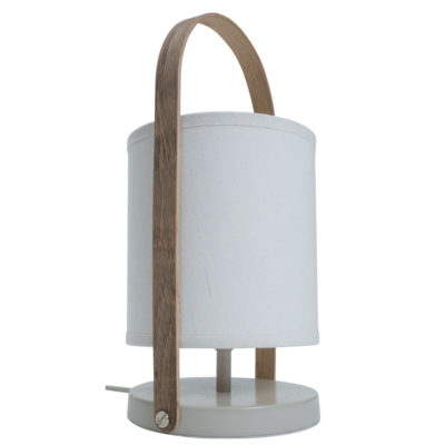 white Lantern style table lamp by Pr Home