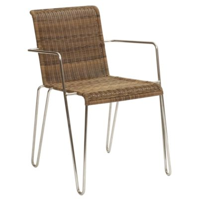 wicker chair with stainless steel legs by Pr Home