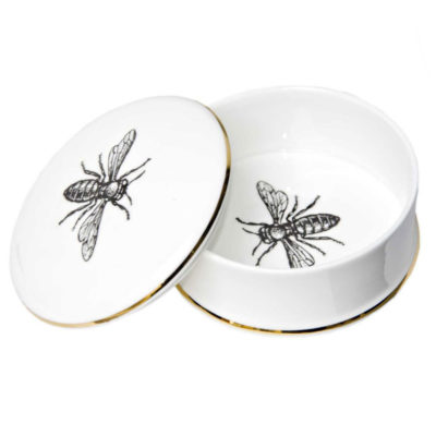 teeny tiny bee trinket box in fine bone china by Rory Dobner