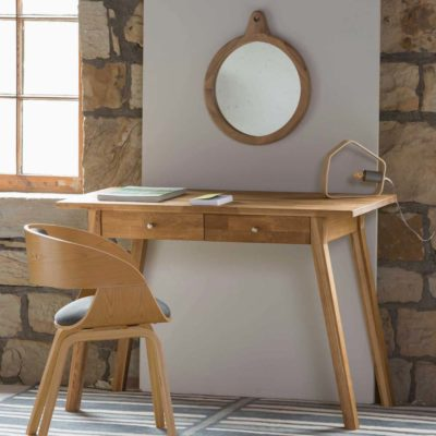 wooden round Mirror, Enso by Pr Home