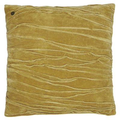 yellow velvet traces Jakobsdals cushion case