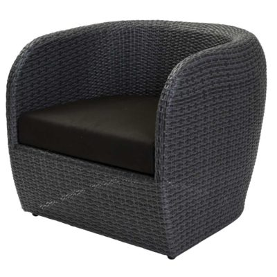 black outdoor armchair by Pr Home