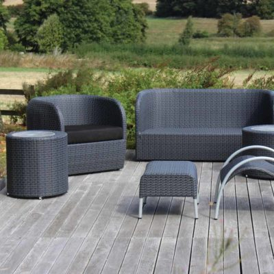black outdoor furniture by Pr Home