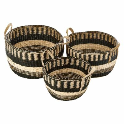 seagrass storage basket, Beccar by Latzio