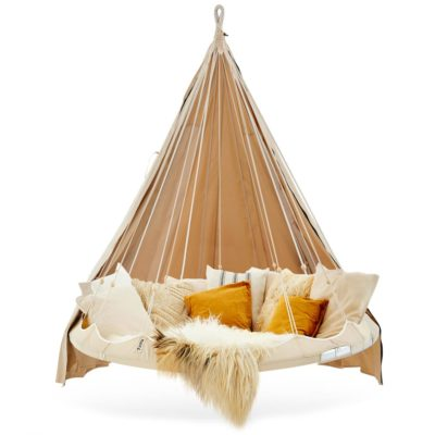 White Classic Medium Hanging TiiPii Bed & Poncho