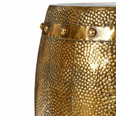 gold hammered drum stools, Cuatia by Latzio