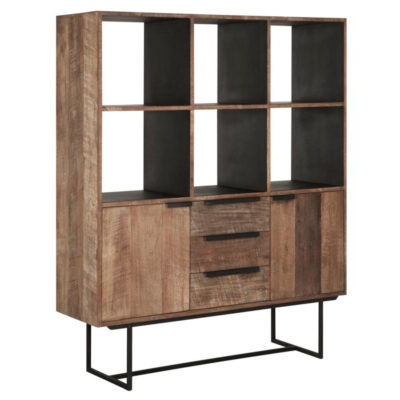 wooden Bookcase, Odeon No.3 by DTP Home