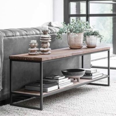 Wood and metal TV Stand Beam, Timeless by DTP Home