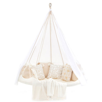 White hanging Deluxe Poolside Medium TiiPii Bed