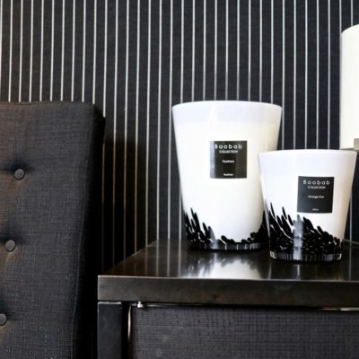 black feathers candle by baobab