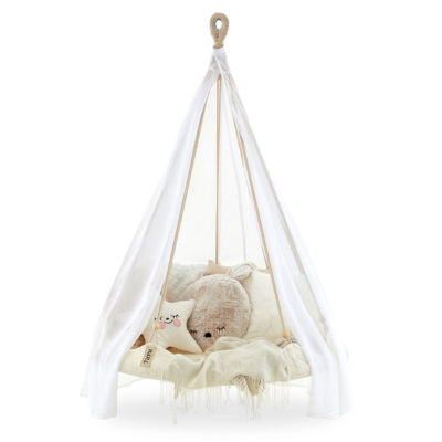 White hanging TiiPii bed for Kids
