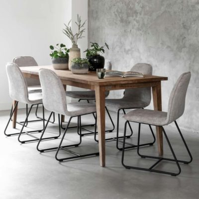wooden dining table vintage 200cm by MUST Living
