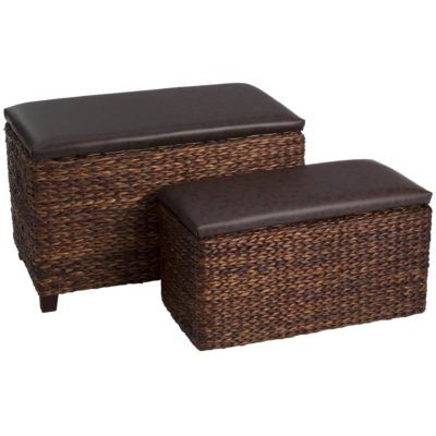 Cattail brown ottoman storage by Latzio