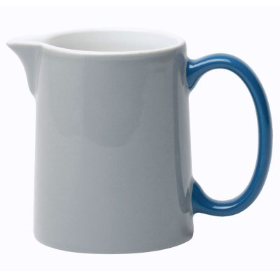 milk jug grey with handle blue, Jansen + Co by Serax