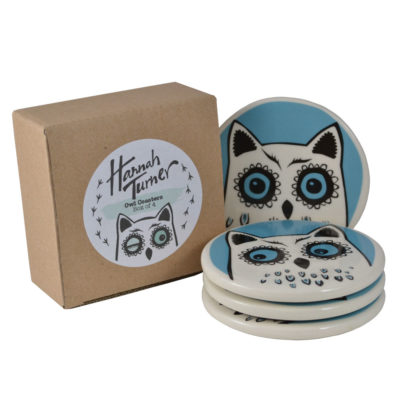 ceramic Owl Coasters by Hannah Turner
