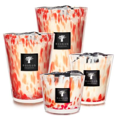 Pearls Coral, wisteria and orange blossom candle by baobab