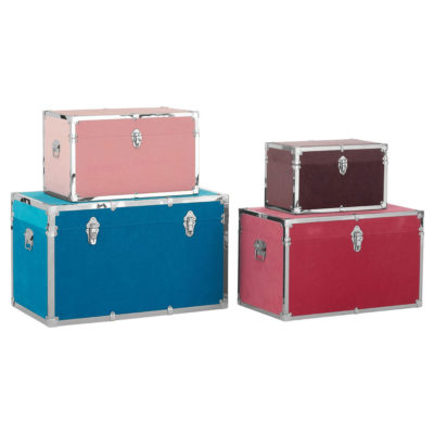 set of 5 multicolour rectangular trunks, Pilar by Latzio