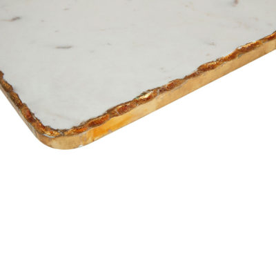 white marble with gold foil paddle board , Santiago by Latzio