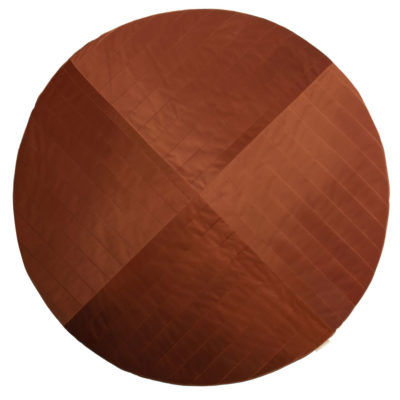 organic brown velvet round carpet, Kilimanjaro by Nobodinoz