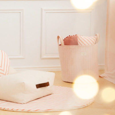 Pink Savanna Velvet Toy Bag by Nobodinoz