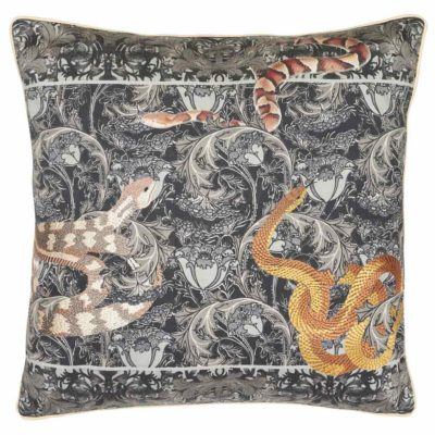 black Pillow Case with snakes by Jakobsdals