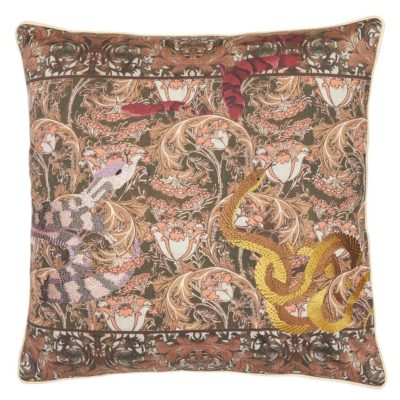red Pillow Case with snakes by Jakobsdals