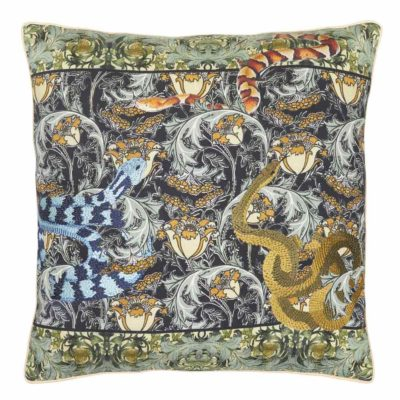 green Pillow Case with snakes by Jakobsdals