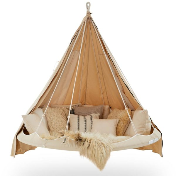 White classic large hanging TiiPii Bed & Poncho
