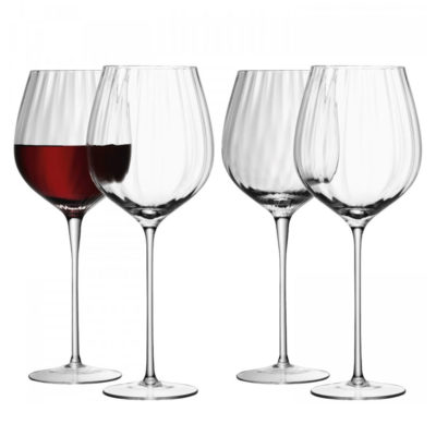 handmade red wine glasses, aurelia by LSA International