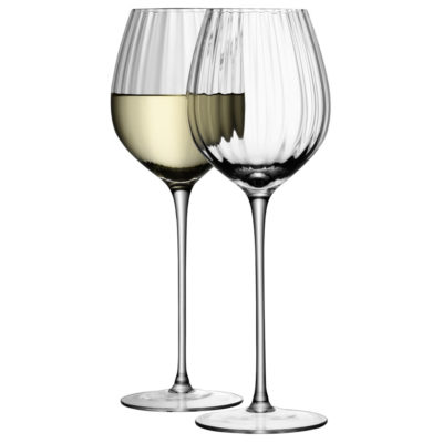 handmade white wine glasses, aurelia by LSA International