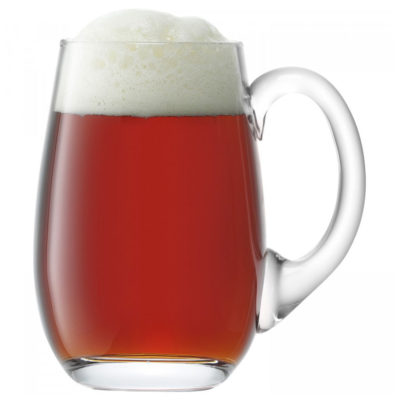 handmade bar beer tankard curved by LSA International