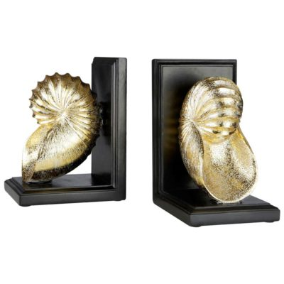 gold seashell bookends by Latzio