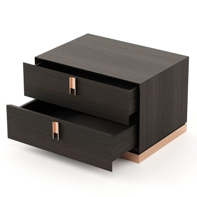 wooden bedside table, emily by laskasas