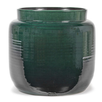 terracotta flower pot L dark green by serax