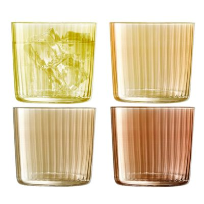 handmade tumbler 310ml amber, gems by LSA International
