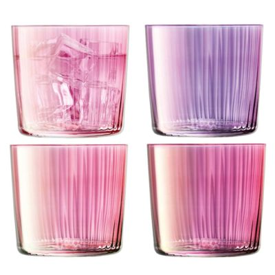 handmade tumbler 310 pink, gems by LSA International