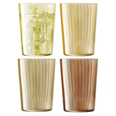 handmade tumbler 560ml amber, gems by LSA International