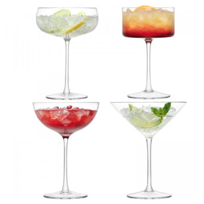 handmade champagne cocktail glass, lulu by LSA International