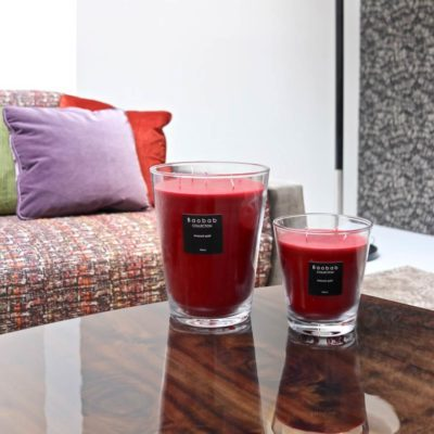 maasai spirit red candle by baobab