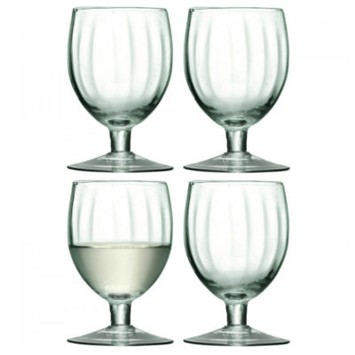 recycled glass wine glasses, Mia by LSA International